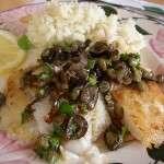 Fischfilet mit Oliven-Kapern-Vinaigrette