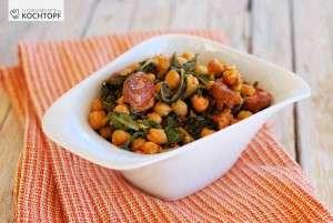 Kichererbsen-Mangold-Gemüse mit Chorizo