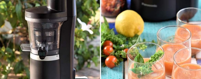 Tomaten-Pfirsich-Saft aus dem Slow Juicer