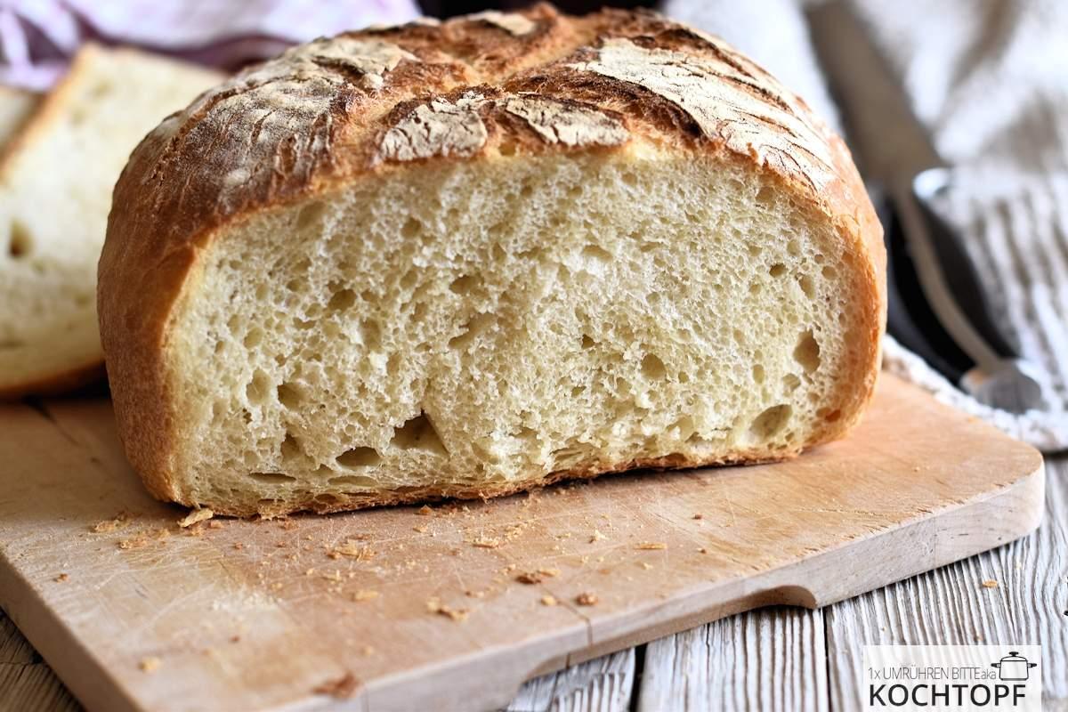 Pane di grano duro angeschnitten
