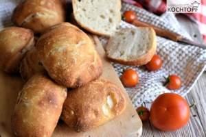Maurizios Ciabatta Buns mit Pasta Madre {Rezept ohne Hefe}